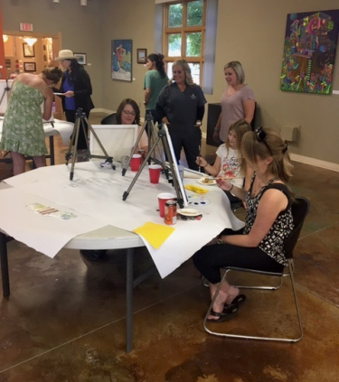 Heptner Cancer Center cancer patient, survivor art night at AVA Community Art Center